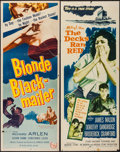 """Movie Posters:Crime, Blonde Blackmailer & Others Lot (Allied Artists, 1958). Inserts(4) (14"""" X 36""""). Crime.. ... (Total: 4 Items)"""