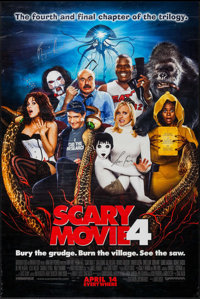 """Scary Movie 4 (Dimension, 2006). Autographed One Sheet (27"""" X 40"""") & Autographed Mini Poster (13.25""""..."""