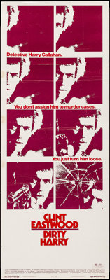 "Dirty Harry (Warner Brothers, 1971). Insert (14"" X 36""). Crime"