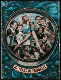 """Republic: 10 Years of Progress (Republic, 1945). Exhibitor's Magazine (Multiple Pages, 9"""" X 12""""). Serial"""