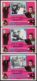 "Movie Posters:Crime, Bullitt (Warner Brothers, 1969). Mexican Lobby Cards (3) (12"" X16.5""). Crime.. ... (Total: 3 Items)"