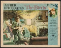 """Movie Posters:Hitchcock, The Birds (Universal, 1963). Autographed Lobby Card (11"""" X 14"""").Hitchcock.. ..."""