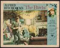"""The Birds (Universal, 1963). Autographed Lobby Card (11"""" X 14""""). Hitchcock"""