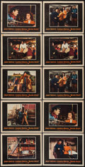 "Movie Posters:Action, Blood Alley (Warner Brothers, 1955). Lobby Cards (10) (11"" X 14"").Action.. ... (Total: 10 Items)"