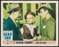 "Movie Posters:Crime, Dead End (United Artists, 1937). Lobby Card (11"" X 14""). Crime....."