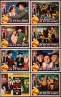 """Movie Posters:Western, Law Beyond the Range (Columbia, 1935). Lobby Card Set of 8 (11"""" X 14""""). Western.. ... (Total: 8 Items)"""