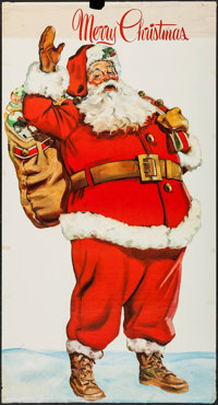 "Santa Claus (1950s). Holiday Poster (29.5"" X 55""). Fantasy"