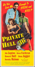 "Movie Posters:Crime, Private Hell 36 (Filmakers Releasing Organization, 1954). ThreeSheet (41.5"" X 78.25""). Crime.. ..."