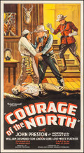 """Movie Posters:Western, Courage of the North (Stage and Screen Productions, 1935). ThreeSheet (40.75"""" X 80""""). Western.. ..."""