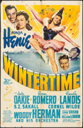 "Movie Posters:Musical, Wintertime (20th Century Fox, 1943). One Sheet (27"" X 41""). Musical.. ..."