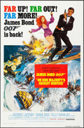 "Movie Posters:James Bond, On Her Majesty's Secret Service (United Artists, R-1980s). OneSheet (27"" X 41"") Style B. James Bond.. ..."