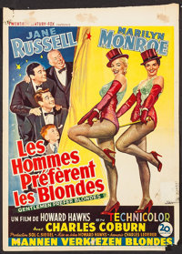 "Gentlemen Prefer Blondes (20th Century Fox, 1953). Trimmed Belgian (14.25"" X 20""). Musical"