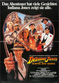 "Movie Posters:Adventure, Indiana Jones and the Temple of Doom (Paramount, 1984). German A1(23.25"" X 33""). Adventure.. ..."