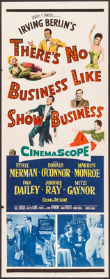 """There's No Business Like Show Business (20th Century Fox, 1954). Insert (14"""" X 36""""). Musical"""