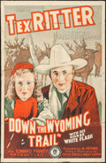 """Movie Posters:Western, Down the Wyoming Trail (Monogram, 1939). One Sheet (27"""" X 41""""). Western.. ..."""