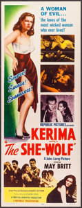 """Movie Posters:Crime, The She-Wolf & Other Lot (Republic, 1954). Insert (14"""" X 36"""")& One Sheet (27"""" X 41""""). Crime.. ... (Total: 2 Items)"""