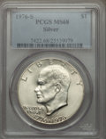 Eisenhower Dollars, 1976-S $1 Silver MS68 PCGS. PCGS Population (747/0). NGC Census: (73/0). Mintage: 11,000,000. Numismedia Wsl. Price for pro...