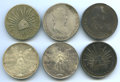 Mexico, Mexico: Mixed Lot of Six silver Crowns,... (Total: 6 coins)
