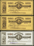 Obsoletes By State:Nevada, Winnemucca, NV- Humboldt County Warrants Various Amounts 1917-20 Six Examples . ... (Total: 6 items)
