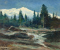Paintings, Robert William Wood (American, 1889-1979). Mount Shasta. Oil on canvasboard. 20 x 24 inches (50.8 x 61 cm). Signed lower...
