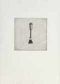Jim Dine (American, b. 1935) Untitled, from Four German Brushes (two works), 1973 Etching