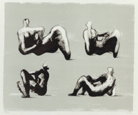 Henry Spencer Moore (British, 1898-1986) Homage to Michelangelo, 1974 Lithograph in colors 19-1/4
