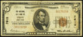 National Bank Notes:New York, Troy, NY - $5 1929 Ty. 1 The National City Bank Ch. # 7612. ...