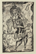 Works on Paper, Alfred Gwynne Morang (American, 1901-1958). Untitled. Ink on paper. 11-1/2 x 7-1/2 inches (29.2 x 19.1 cm). Signed lower...