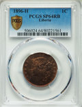 Liberia, Liberia: Republic Specimen Cent 1896-H SP64 Red and Brown PCGS,...