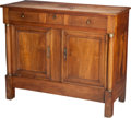 Furniture , A French Empire Walnut Sideboard, first half 19th century. 45-3/4 h x 55 w x 22-3/4 d inches (116.2 x 139.7 x 57.8 cm). ... (Total: 3 Items)