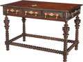 Furniture : Continental, A Portuguese Rosewood Center Table, late 18th/early 19th century.33 h x 48 w x 28-1/2 d inches (83.8 x 121.9 x 72.4 cm). ...
