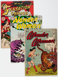 Wonder Woman-Related Group of 3 (DC, 1945-62).... (Total: 3 Comic Books)