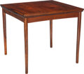 Furniture : Continental, A Danish Rosewood Games Table with Reversible Top and Extending Leaves, circa 1960. 28 h x 29 w x 29 d inches (71.1 x 73.7 x...