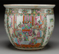 Asian:Chinese, A Large Chinese Canton Famille Rose Porcelain Jar, 19th century.13-3/4 h x 16 d inches (34.9 x 40.6 cm). PROPERTY FROM TH...