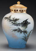 Ceramics & Porcelain, American:Antique  (Pre 1900), An Early Rookwood Matte Glaze Perfume Censor with Double Sided Lid by Matthew Andrew Daly, Cincinnati, Ohio, circa 1886. Mar...