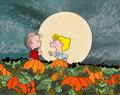 Animation Art:Production Drawing, It's the Great Pumpkin, Charlie Brown Children's BookIllustration Linus and Sally Original Art (1970s). ...
