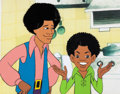 Animation Art:Production Cel, The Jackson 5ive Michael and Jermaine Production Cel (RankinBass, 1972)....