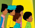 Animation Art:Production Cel, The Jackson 5ive Production Cel (Rankin-Bass, 1972)....