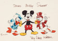 Animation Art:Production Drawing, Ward Kimball - Mickey Mouse, Donald Duck, and Uncle Scrooge McDuck Illustration Original Art (c. 1970-80s)....