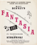 Memorabilia:Poster, Fantasia Press Book/Campaign Guide (Walt Disney, 1940)....
