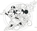 Animation Art:Production Drawing, Disneyland Mickey and Minnie Mouse Illustration Original Art (WaltDisney, c. 2000)....