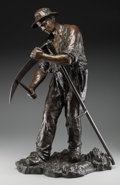 Fine Art - Sculpture, American:Modern (1900 - 1949), Ruffony (American, 20th Century). Sod Worker. Bronze with brown patina. 25 inches (63.5 cm) high. Inscribed on base: R...