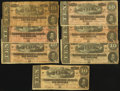 Confederate Notes:1864 Issues, T68 $10 1864, Seven Examples.. ... (Total: 7 notes)