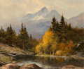 Texas:Early Texas Art - Regionalists, Robert William Wood (American, 1889-1979). The Grand Tetons.Oil on canvas. 20 x 24 inches (50.8 x 61 cm). Signed lower ...