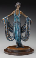Bronze:Contemporary, An Erté Cold Painted Bronze Sculpture: Gala, circa 1980.Marks: (artist's cipher), FINE ART ACQUISITIONS LTD.,...