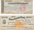Miscellaneous:Ephemera, Tombstone, Arizona Territory: Two Banking Documents.... (Total: 2 )