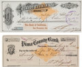Miscellaneous:Ephemera, Tombstone, Arizona Territory: Two Bank Drafts.... (Total: 2 Items)