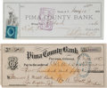 Miscellaneous:Ephemera, Arizona Territory: Two Early Bank Drafts.... (Total: 2 Items)
