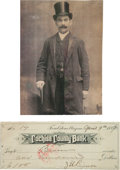 Miscellaneous:Ephemera, Tombstone, Arizona: Bank Draft Signed by Tombstone TheaterOwner.... (Total: 2 Items)