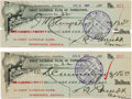 Miscellaneous:Ephemera, Tombstone, Arizona: Two First National Bank of Tombstone BankDrafts.... (Total: 2 Items)